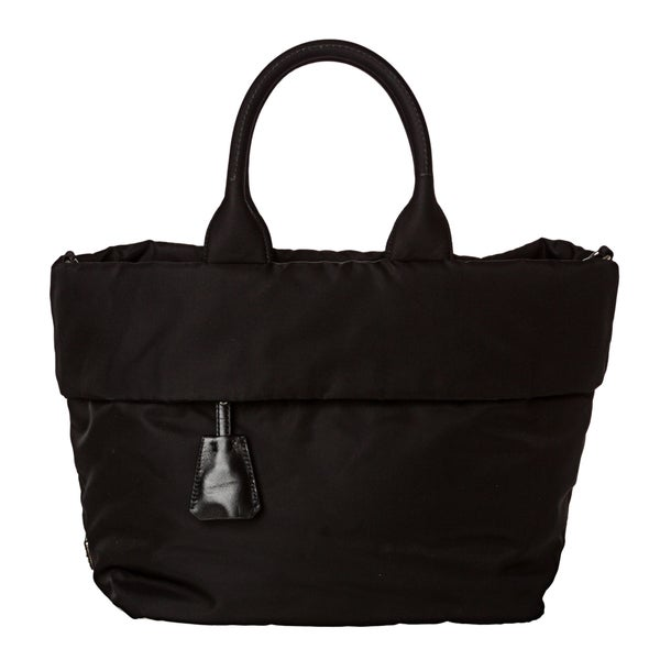 Prada 'Tessuto Double' Black Nylon Reversible Tote Bag