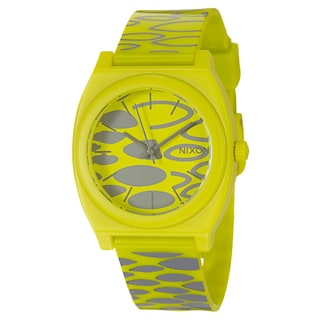 Nixon Men's Yellow and Grey 'Time Teller' Watch