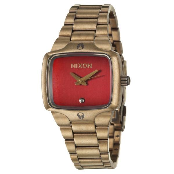 Nixon Women's Antique Yellow-goldtone 'Small Player' Watch