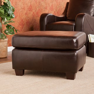 Upton Home Claymore Chocolate Ottoman/ Footrest