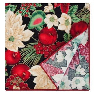 Black Napkin by Rose Tree 'Holiday Blooms' Napkins (Set of 6)