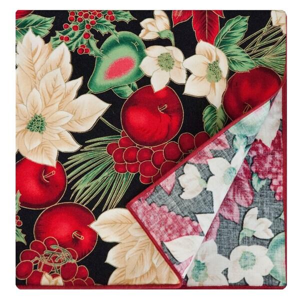 Black Napkin by Rose Tree 'Holiday Blooms' Napkins (Set of 6)