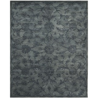 Handmade Antiquities Grey Wool Rug