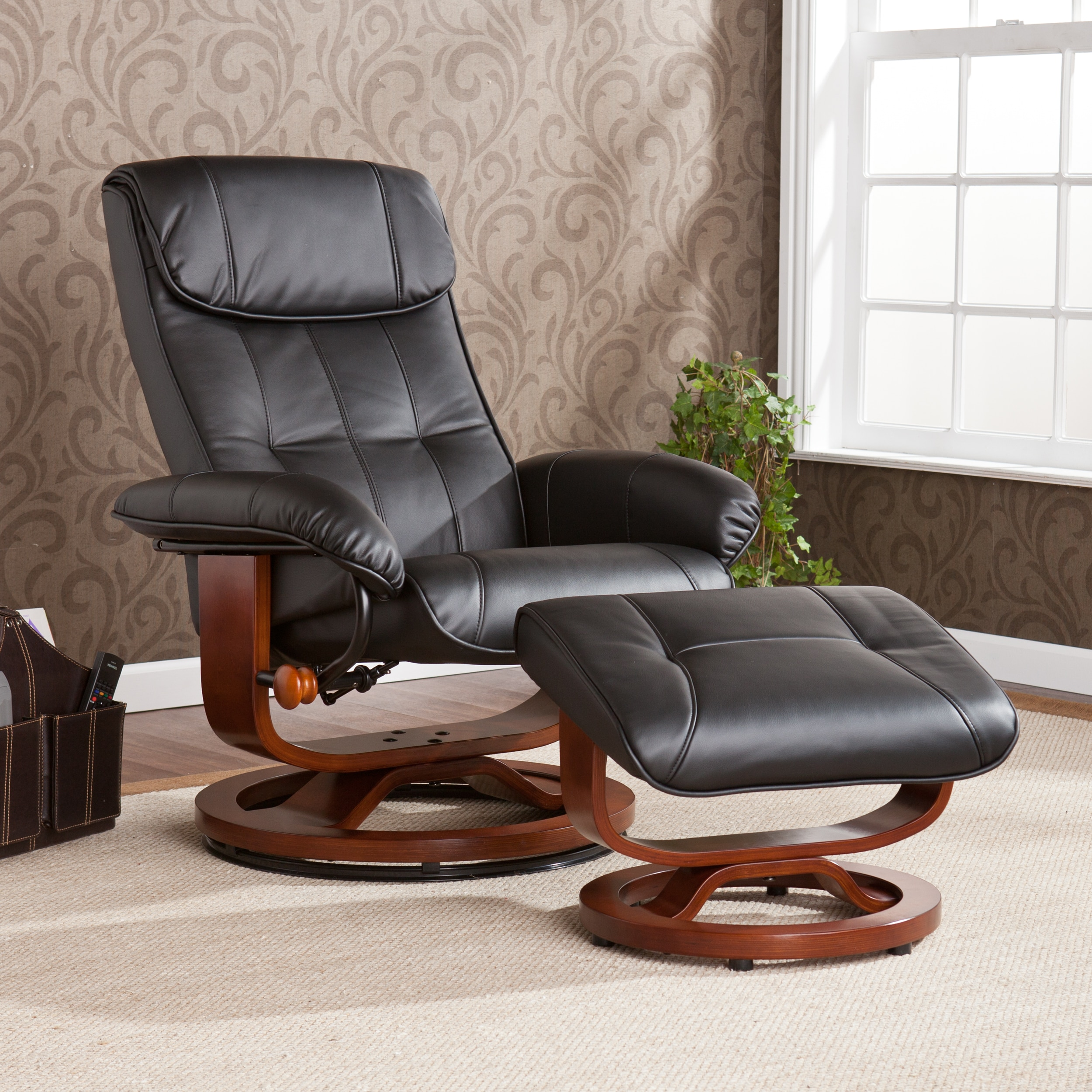 Upton Home Viridian Black Recliner/ Ottoman Set at Sears.com