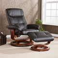 Upton Home Viridian Black Recliner/ Ottoman Set