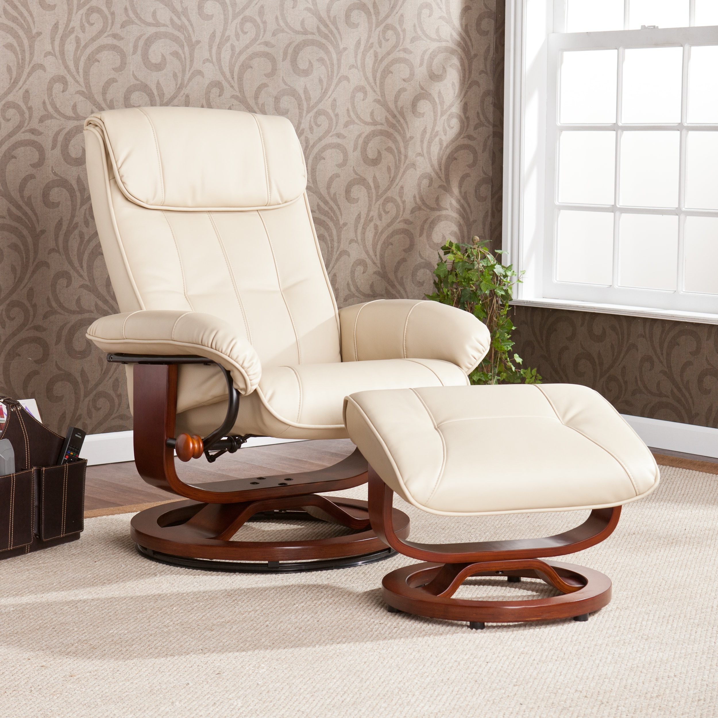 Upton Home Viridian Taupe Recliner/ Ottoman Set at Sears.com