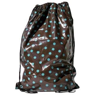 Tango 'Brown/ Turquoise Polka Dot' Laundry Duffel Bag