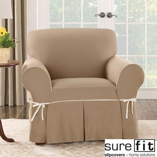 Sure Fit Cocoa Duck Chair Slipcover