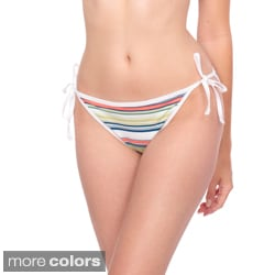 American Apparel Women's Striped Side-Tie Bikini Bottoms