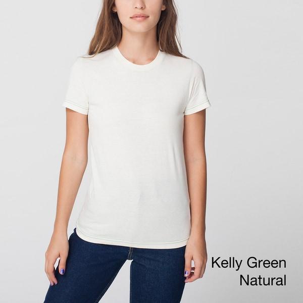 American Apparel Women's Organic Fine Jersey T-Shirt (XL)