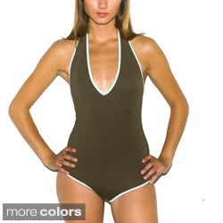 American Apparel Women's Cotton Spandex Halter Leotard