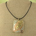 Handcrafted Copper and Brass Leaf Necklace (India)