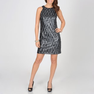 Ignite Evenings Women's Allover Sequin Evening Dress