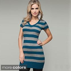 Stanzino Women's Striped Knit Tunic Sweater