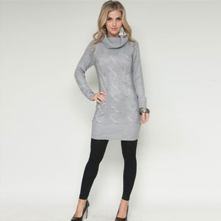 Stanzino Women's Cowl Neck Grey Sweater