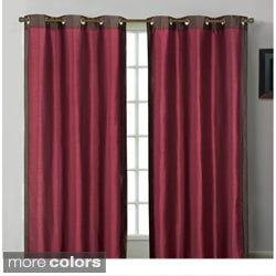 Payton Framed Faux Silk Grommet 84-inch Panel