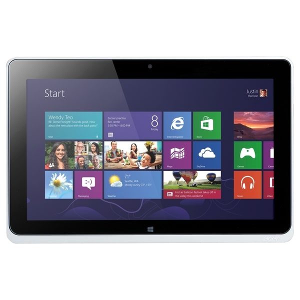 "Acer ICONIA W510P-27602G06ass 64 GB Net-tablet PC - 10.1"" - In-plane"