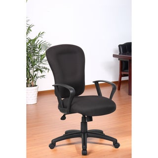 Aragon Black Memory Foam Task Chair with Loop Arms