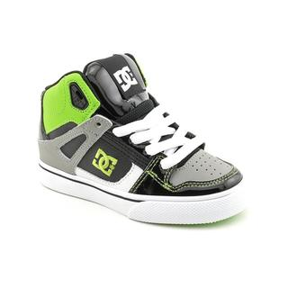 DC Boy's 'Spartan Hi' Leather Athletic Shoe