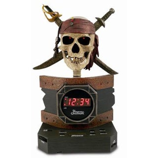 Disney Pirates of the Caribbean Alarm Clock Radio