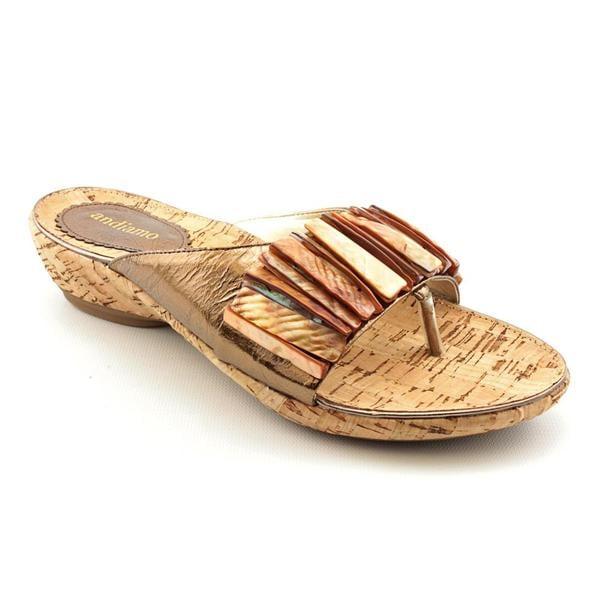 Andiamo Women's 'Bangle' Leather Sandals - Narrow (Size 10)