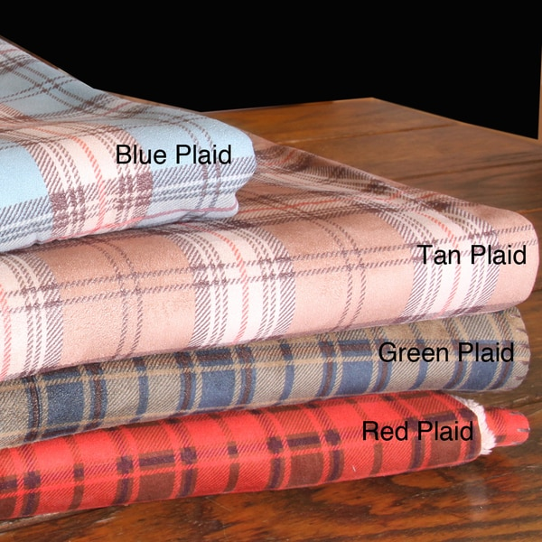 Plaid Microfiber Throw