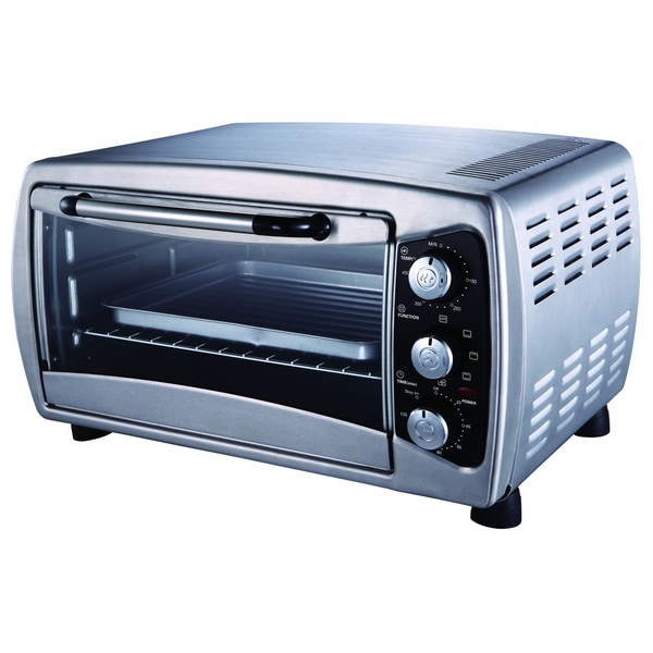 Countertop Toaster Convection Oven Reviews : Stainless Countertop Convection Toaster Oven - 14947941 - Overstock ...