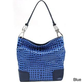 Dasein Croco-embossed Hobo Bag
