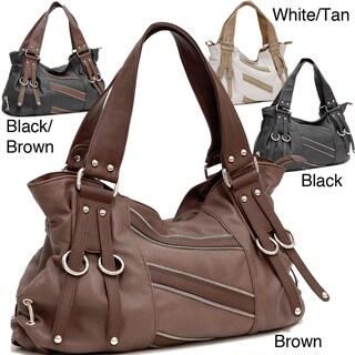 Dasein Decorative Zipper Shoulder Bag
