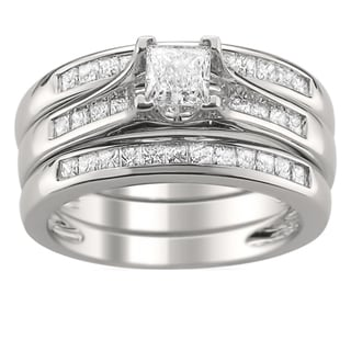 14k Gold 1 1/4ct TDW Diamond 3-piece Bridal Ring Set (H-I, SI2)
