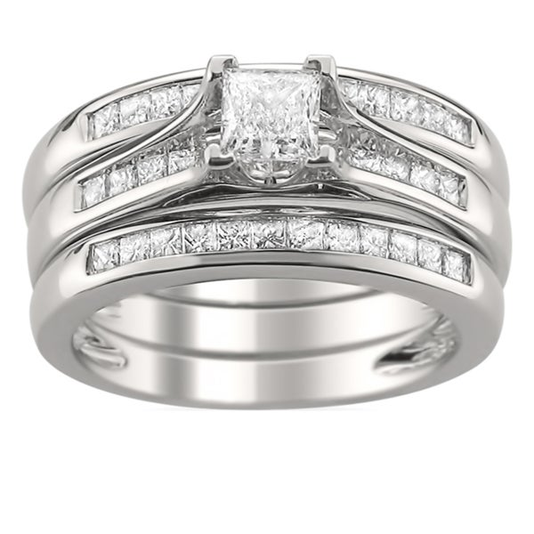 14k Gold 1 1/4ct TDW Diamond 3-piece Bridal Ring Set (H-I, SI2)