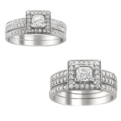 14k Gold 3/5 or 1 1/5ct TDW Diamond 3-piece Bridal Ring Set (H-I, I1)