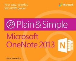 Microsoft OneNote Plain & Simple 2013 (Paperback)