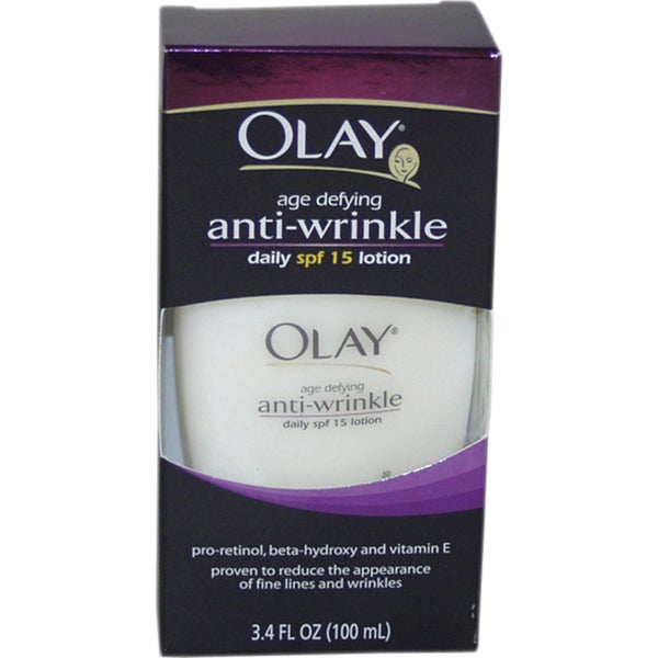Olay Age-Defying Anti-Wrinkle 3.4-ounce Daily Lotion with SPF15