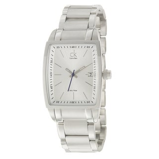 Calvin Klein Men's Stainless Steel Rectangle Watch
