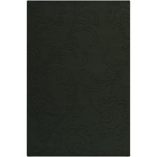 Mandara Hand-tufted Floral Green Wool Rug (5' x 7'6)