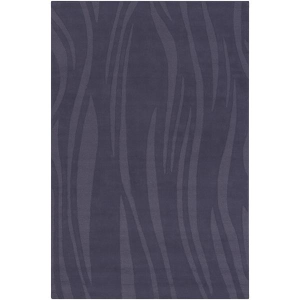Mandara Hand-tuftedGeometric Blue Wool Rug (5' x 7'6)