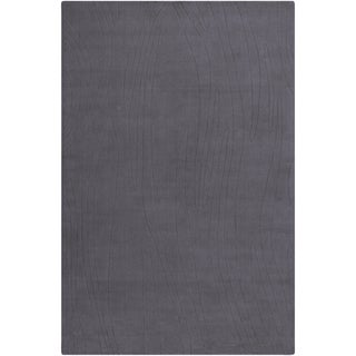 Mandara Hand-tufted Geometric Grey Wool Rug (5' x 7'6)