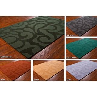 "Mandara Hand-Tufted Contemporary Geometric Wool Rug (5' x 7'6"")"