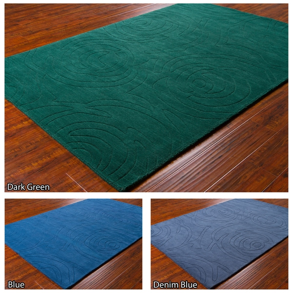 "Mandara Hand-Tufted Contemporary Wool Rug (5' x 7'6"")"