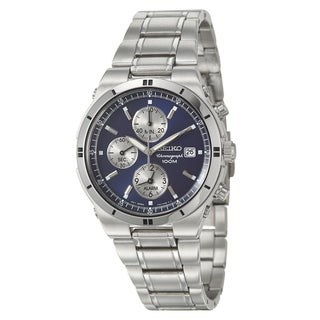 Seiko Men's Stainless Steel Alarm Chronograph Watch