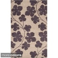 Paule Marrot Hand-tufted Cuero Floral New Zealand Wool Rug (5' x 8')