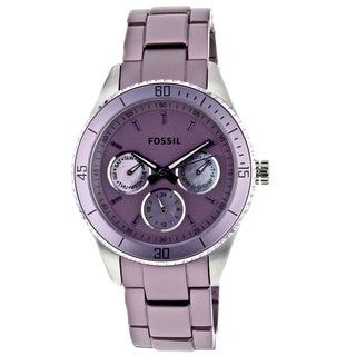 Fossil Women's Purple Aluminum and Steel 'Stella' Watch