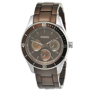 Fossil Women's Browm Steel 'Stella' Watch