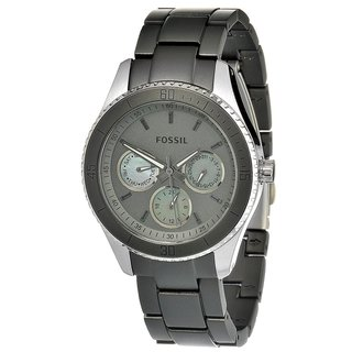 Fossil Women's Grey Aluminum and Steel 'Stella' Watch