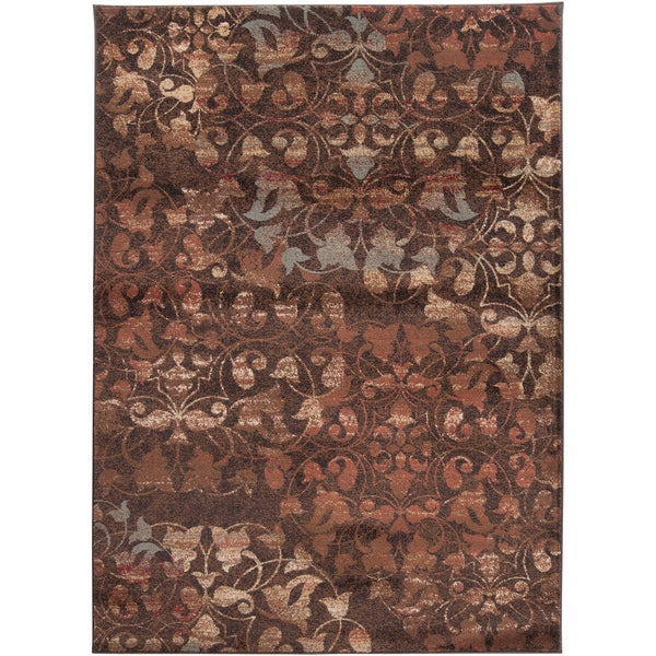 Woven Brownville Woven Floral Plush Rug