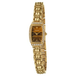 Pulsar Women's PEGE60 Gold-Plated Stainless-Steel Crystal Watch