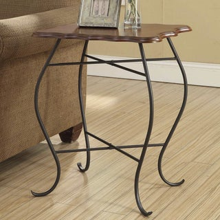'Kristin' Wood Top Accent Table