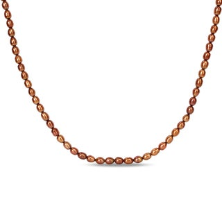 M by Miadora Brown Cultured Freshwater Pearl Endless Necklace