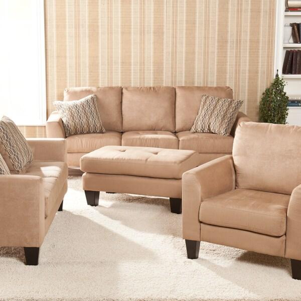 Ascot Mocha 4-piece Sofa Set